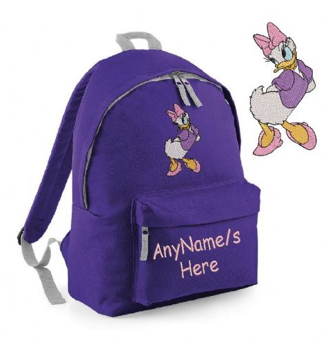 DAISY DUCK Rucksack/Backpack with any name